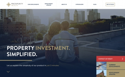 Home page of prosperity-wealth.co.uk